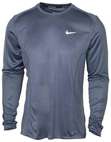 a3bb8547ee9cd Nike Mens DF Miler Long Sleeve NFS Running Shirt Armory Blue 905290-498  Size Large