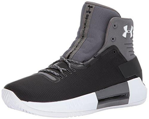 Under Armour Men's Team Drive 4 Basketball Shoe, Black (001)/White, 8.5