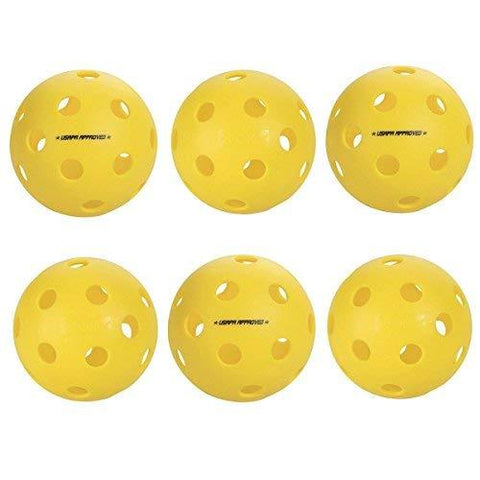 Escalade Onix Fuse Indoor Pickleballs, Yellow (pack of 6) [product _type] Escalade Sports - Ultra Pickleball - The Pickleball Paddle MegaStore