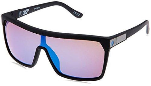 Spy Optic Flynn 670323973317 Wrap Sunglasses, 1.5 mm (Soft Matte Black/Happy Bronze/Dark Blue Spectra)