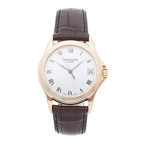 Patek Philippe Calatrava Mechanical (Automatic) White Dial Mens Watch 5117R-001 (Certified Pre-Owned)