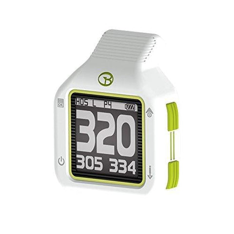 GolfBuddy CT2 Golf GPS Rangefinder, White/Green, Small