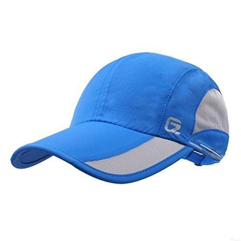 GADIEMKENSD Quick Dry Sports Hat Lightweight Breathable Soft Outdoor Run Cap (Classic Upgrade, Blue)
