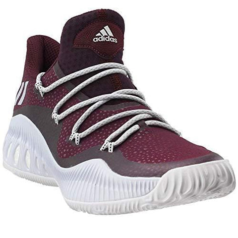 adidas Crazy Explosive Low Shoe - Men's Basketball 14 Maroon/White/Black