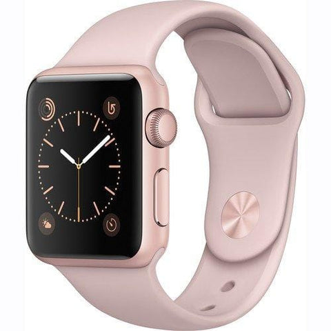Apple Watch Series 1 Smartwatch 38mm Rose Gold Aluminum Case, Pink Sand Sport Band (Newest Model) (Renewed)