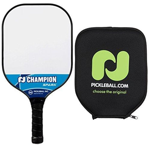 Pickle-Ball Champion Spark Pickleball Paddle | Composite Paddle | Polypropylene Honeycomb Core | Fiberglass Face | Lightweight (Blue + Cover) [product _type] Pickle-Ball - Ultra Pickleball - The Pickleball Paddle MegaStore