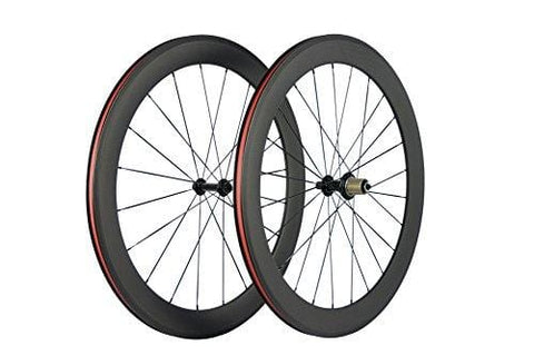 Superteam 700c 60mm 3k Superlight Carbon Clincher Wheelset Cycling Racing Wheels 20/24h (Shimano Body)