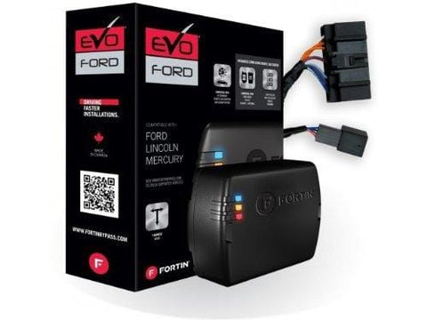 Fortin EVO-FORT1 Stand-Alone Add-On Remote Start Car Starter System For Ford IKT Round Metal Key Vehicles