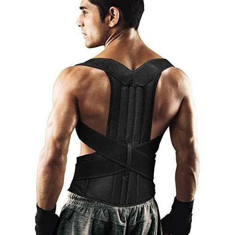 "Back Brace Posture Corrector for Women and Men Back Lumbar Support Shoulder Posture Support for Improve Posture Provide and Back Pain Relief (27.5""-49.5"") Waist-L"