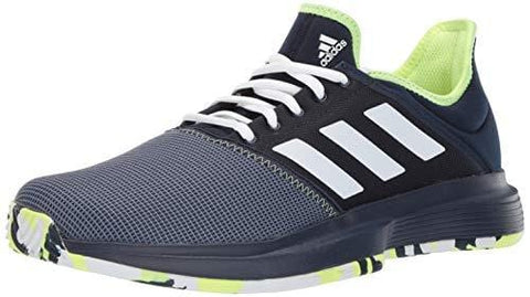 adidas Men's Gamecourt, Collegiate Navy/White/Yellow 10 M US