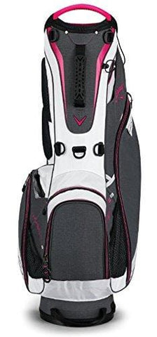 Callaway Golf 2018 Hyper Lite 3 Stand Bag ,Titanium/ White/ Pink, Single Strap