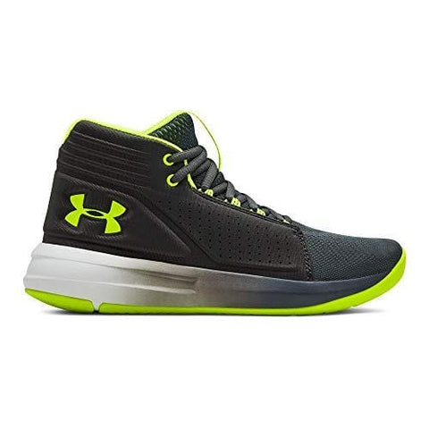 Under Armour Boys' Grade School Torch Mid Basketball Shoe Pitch (103)/Jet Gray, 3.5 M US Big Kid
