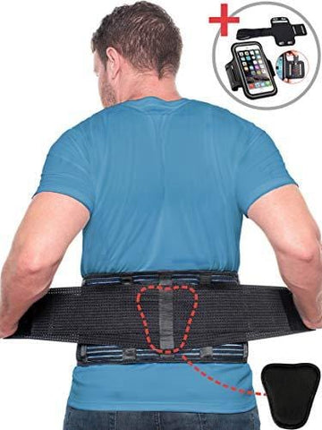 Beqo Back Brace for Lower Back Pain with Removable Lumbar Pad | Back Pain Relief Support Belt for Men & Women | Secure Fastener, Non-Slip Silicone Straps, Breathable Mesh, Adjustable Panels - Size L