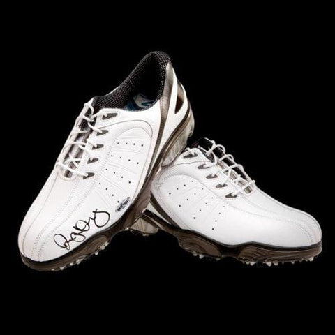 Rory McIlroy Autographed FootJoy White Golf Shoes