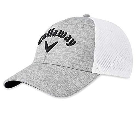Callaway Golf 2019 Mesh Fitted Hat, Light Grey/White/Black, Large/X-Large [product _type] Callaway - Ultra Pickleball - The Pickleball Paddle MegaStore