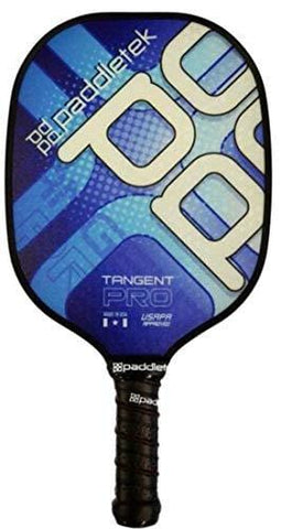 "Paddletek Tangent Pro Standard Handle (4 3/8"") Pickleball Paddle (Blue - Lite (7.4-7.8 oz))"
