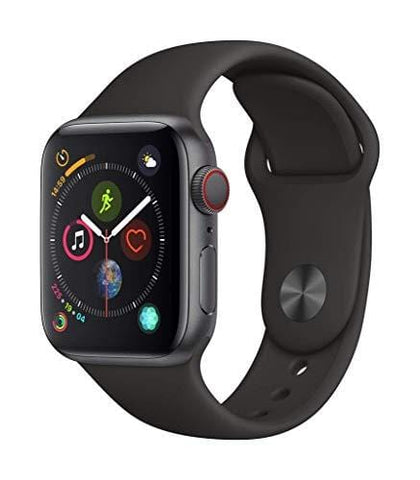 Apple Watch Series 4 (GPS + Cellular) (Renewed) (Black Sport, 44mm)