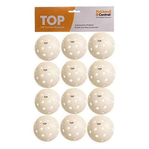 Pickleball 191345 Central - 12 Pack Top Outdoor, White