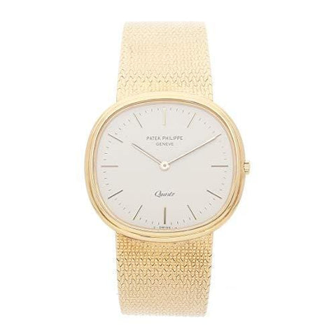 Patek Philippe Vintage Quartz (Battery) Ivory Dial Mens Watch 3879/1 (Certified Pre-Owned)