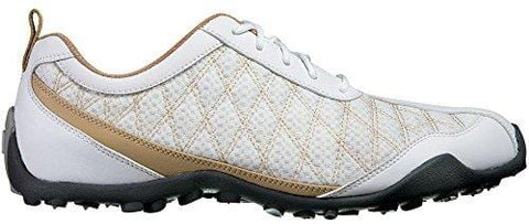 FootJoy Ladies Summer Series Golf Shoes 98847 White/Tan Womens 9 Wide [product _type] FootJoy - Ultra Pickleball - The Pickleball Paddle MegaStore