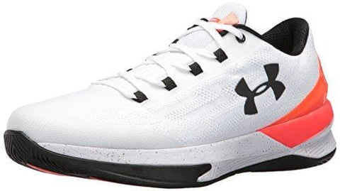 Under Armour Men's Charged Controller Basketball Shoe, White (100)/Phoenix Fire, 12