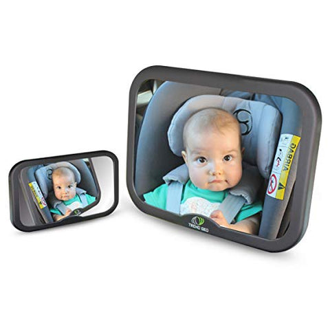 Trendgeo Baby Car Mirror for Back Seat 360 Wide Angle Baby Mirror for Car Rear Facing & Front Facing Car Back Seat Full View Infant Easy Installation on Headrest for Baby Toddler Children