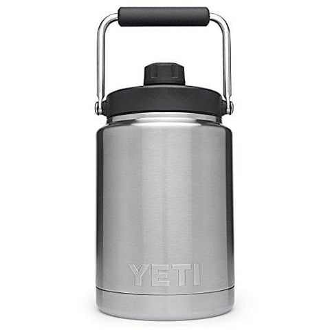 YETI Rambler Vacuum Insulated Stainless Steel Half Gallon Jug with MagCap, Stainless Steel