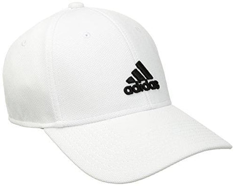 adidas Men's Rucker Stretch Fit Cap, White/Black, Large/X-Large