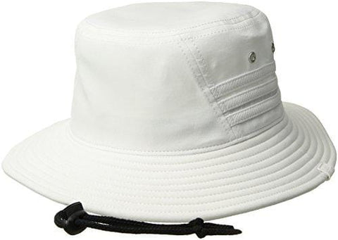 adidas Men's Victory II Bucket Hat, White/Black, One Size [product _type] adidas - Ultra Pickleball - The Pickleball Paddle MegaStore