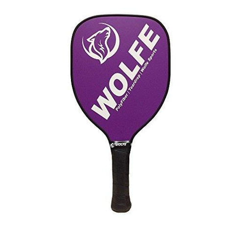 Wolfe Teardrop Poly/Fiber Pickleball Paddle (Purple)