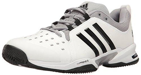 adidas  Barricade Classic Wide 4E Tennis Shoe,White/Core Black/Mid Grey,10 US