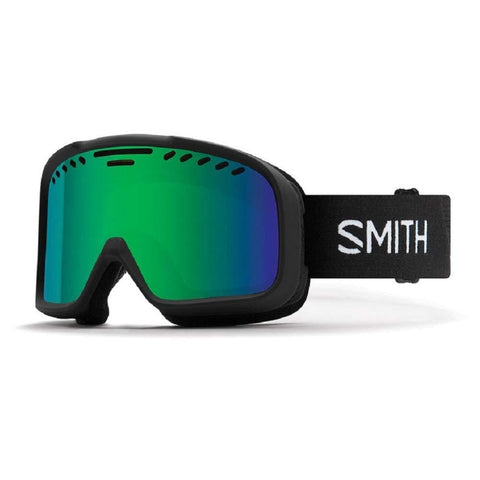 Smith Optics Snow Goggle, GREEN SOL-X MIRROR Lens, BLACK 713