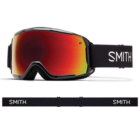 Smith Optics Grom Youth Snow Goggles - Black/Red Sol-X Mirror