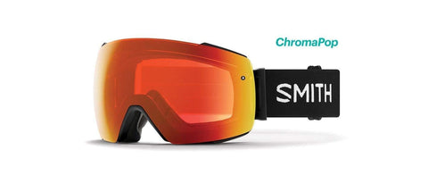 Smith Optics Io Mag Adult Snow Goggles - Black/Chromapop Everyday Red Mirror