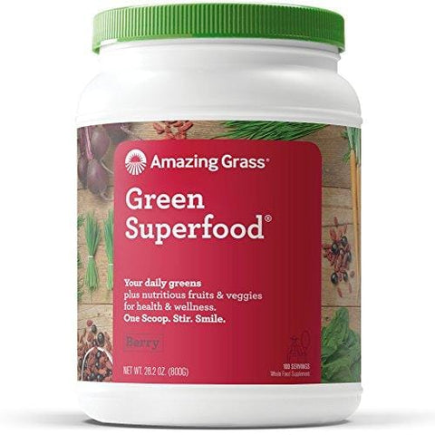 Amazing Grass Green SuperFood Berry, 100 Servings, 28.2 Ounce