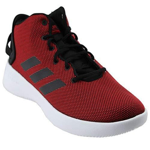 adidas Men's Cf Refresh Mid Basketball Shoe, Scarlet/Black/White, 12.5 Medium US
