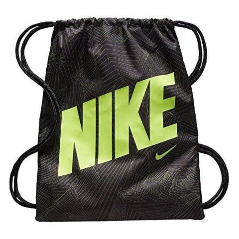 Nike Graphic Gym Sack (One Size, Black (BA5262-017) / Black/Volt)