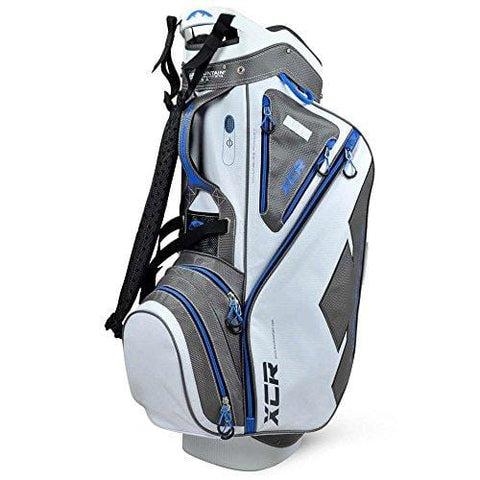 Sun Mountain Xcr Cart Golf Bag, White/Gunmetal/Cobalt