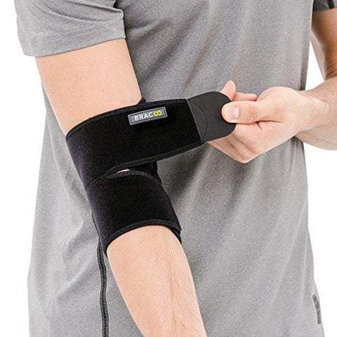 Bracoo Elbow Support, Reversible Neoprene Support Brace for Joint, Arthritis Pain Relief, Tendonitis, Sports Injury Recovery, ES10, Black, 1 count [product _type] Bracoo - Ultra Pickleball - The Pickleball Paddle MegaStore