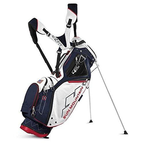 Sun Mountain 4.5 LS 4 Way Stand Golf Bag, Navy/White/Red