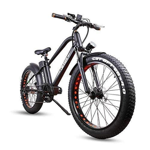 NAKTO Fat Tire Electric Bicycle 500W High Speed Brushless Motor and Detachable Waterproof Lithium Battery Electric Bikes Beach Snow ebike