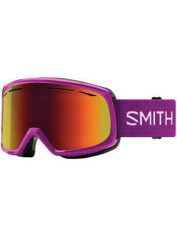 Smith Optics Drift Adult Snowmobile Goggles - Fuchsia/Red Sol-X Mirror/One Size