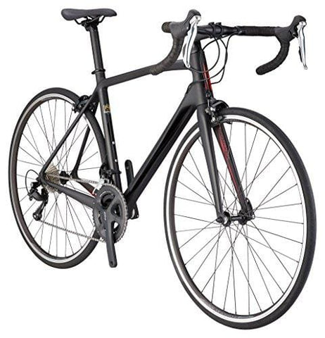 Schwinn Fastback Carbon Performance Road Bike for Advanced to Expert Riders, Featuring 54cm/Large Lightweight Carbon Fiber Frame and Shimano 105 22-Speed Drivetrain with 700c Wheels, Matte Black