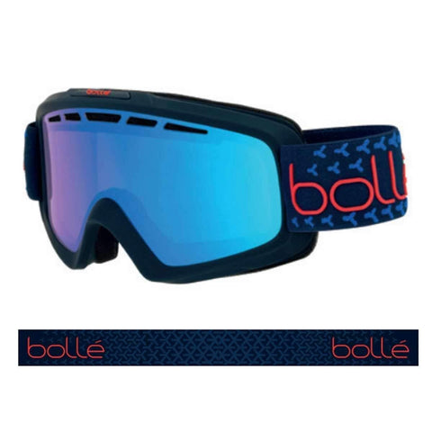 Bolle Nova Ii Photochromic Vermillon Blue, Matte Navy & Red, Medium/Large