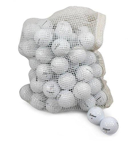 Titleist Recycled Used Golf Balls Cleaned B/C Grade Golf Balls 72 Ball Assorted Models in Onion Mesh Bag