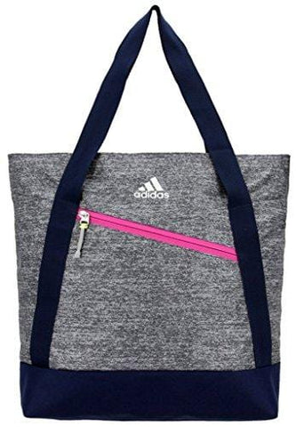 adidas Squad Tote Bag, Onix Jersey/Collegiate Blue/Bahia Magenta/Frozen Yellow, One Size
