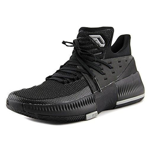 adidas Dame 3 Shoe Mens Basketball 11 Core Black-Core Black-Solid Grey