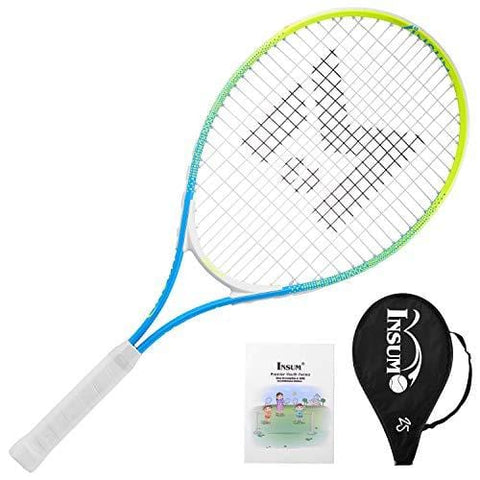 "insum Junior Tennis Racquet 25"" Beginner Kids Starter (Ages 9-10) with Shoulder Strap Cover Bag"