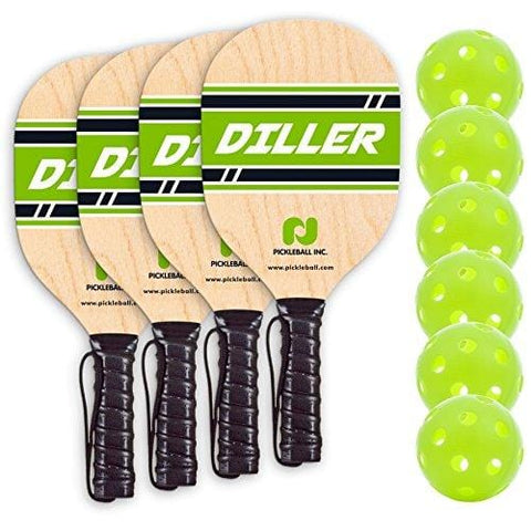 Diller Pickleball Paddle 4 Player Bundle (Set Includes 4 Paddles & 6 Balls) [product _type] Pickle-Ball - Ultra Pickleball - The Pickleball Paddle MegaStore