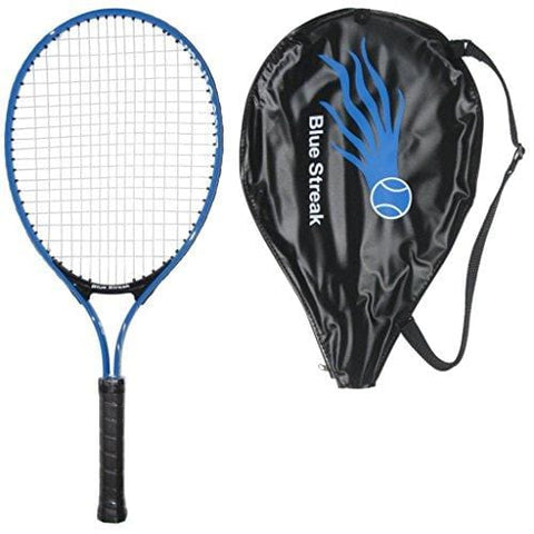"Blue Streak Junior Tennis Racquet - Strung with Cover (23"")"